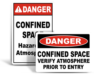 Custom Confined Space Signs