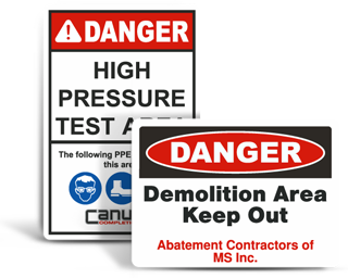 Custom Construction Safety Signs