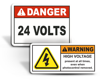 Custom Electrical Safety Labels