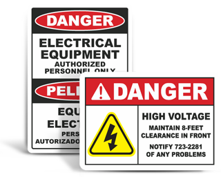Custom Electrical Safety Signs