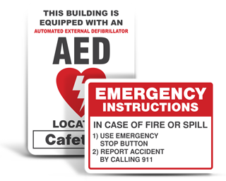Custom Emergency Equipment Signs