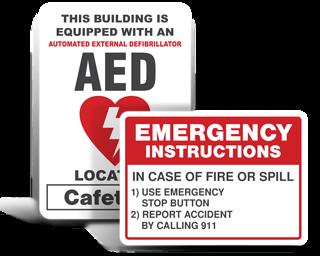Custom Facility Emergency Signs