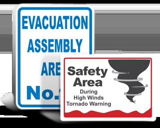 Custom Evacuation Signs
