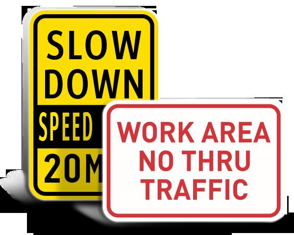 Custom Facility Traffic Signs