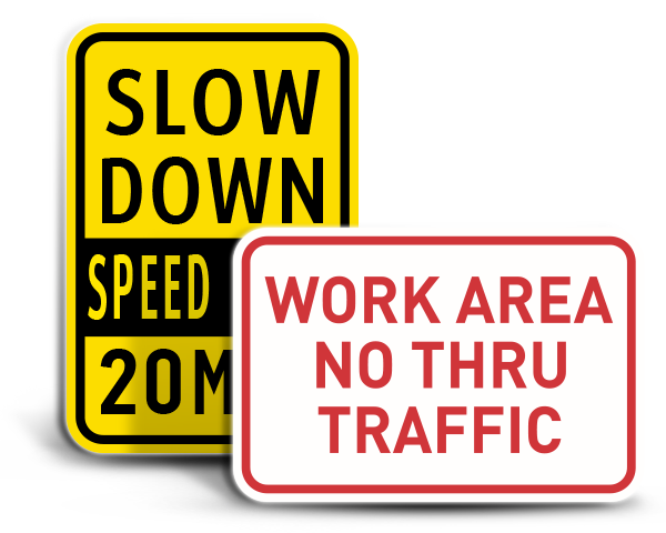 Custom Facility Traffic Signs