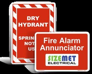 Custom Fire Hazard Labels