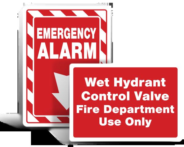 Custom Fire Sprinkler Signs