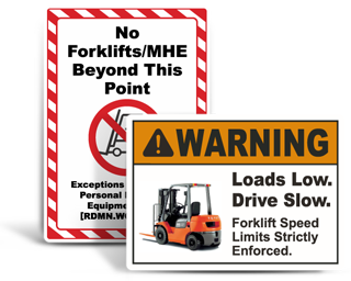 Custom Forklift Signs