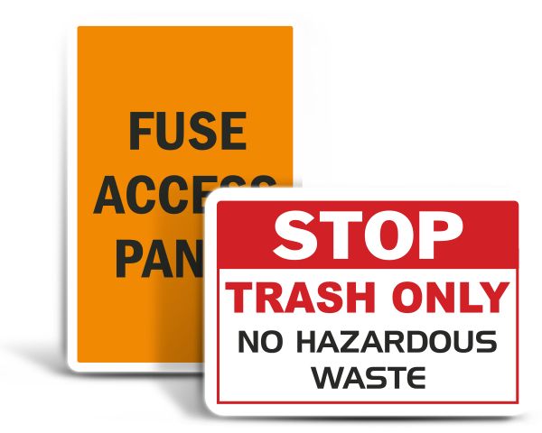 Custom Free-Form Safety Labels