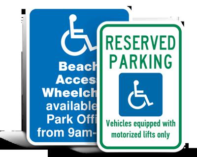 Custom Handicap Parking Signs