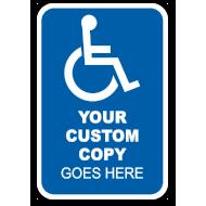 Custom Handicap Parking Sign