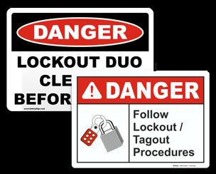 Custom Lockout Signs