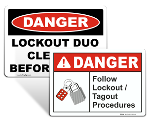 Custom Lockout Signs