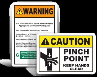 machine safety label