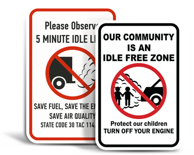 Custom No Idling Signs