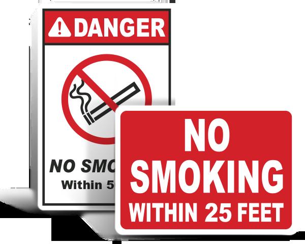 Custom No Smoking Signs