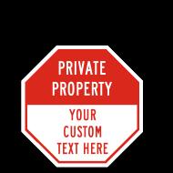 Custom No Trespassing Octagon Signs