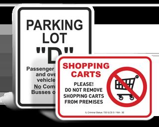 Custom Parking Lot Signs
