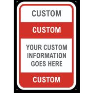 Custom Parking Sign with Image Upload