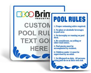 custom swimming signs - Pool Signs