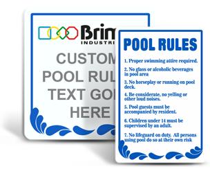 Custom Swimming Signs