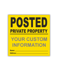 Custom Posted Signs
