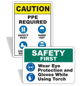 Custom Mandatory PPE Signs