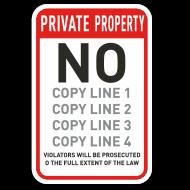 Custom Prohibited Activities Signs