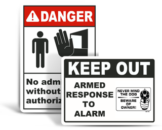Custom Restricted Access Signs