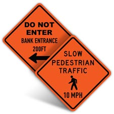 Custom Road Work Signs