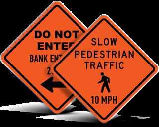 Custom Road Work Signs