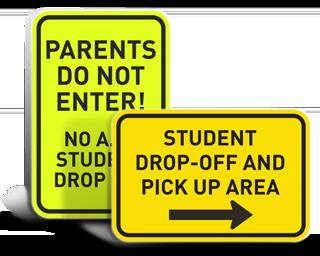 Custom School Parking Signs