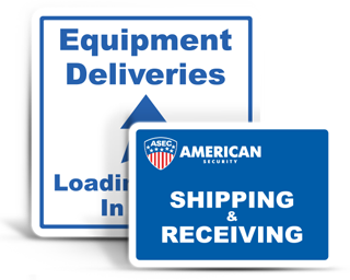 Custom Shipping / Receiving Signs