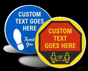 Custom Social Distancing Floor Signs
