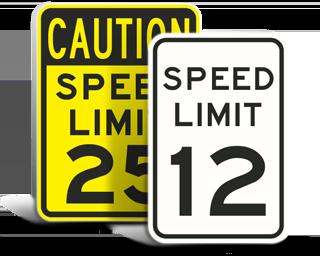 Custom Speed Limit Signs