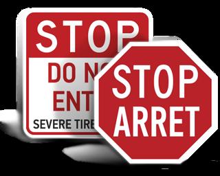 Custom Traffic Stop Signs