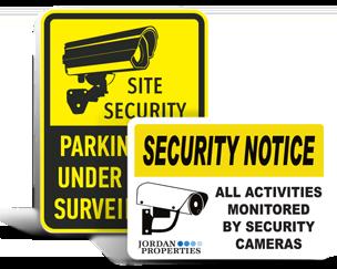 Custom Surveillance Signs