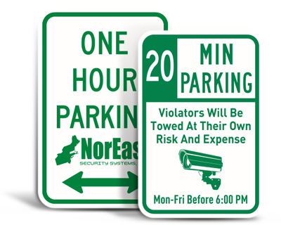 Custom Time Limit Parking Signs