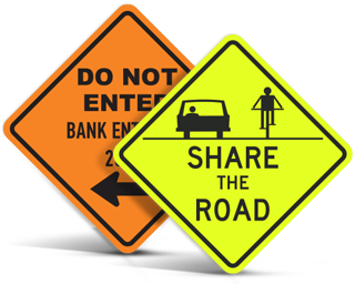 Custom Diamond Traffic Signs