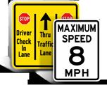Custom Traffic Control Signs