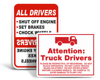 Custom Truck Safety Signs