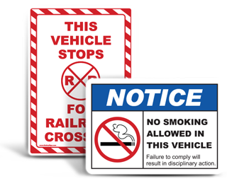 Custom Vehicle Safety Labels