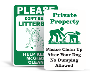 Custom Waste Control Signs