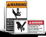 Cut Hazard Labels