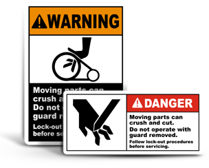 Cutting Hazard Lockout Labels