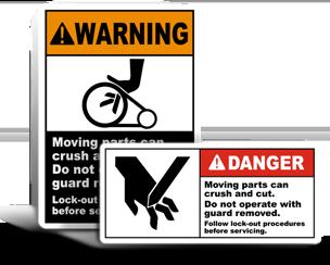Cutting Hazard Lockout Labels