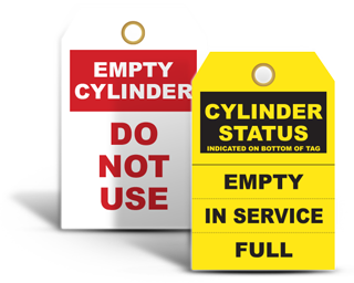 Gas Cylinder Tags