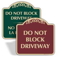 Decorative Parking Signs