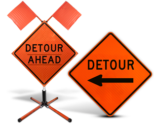 Detour Road Signs