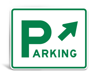 Municipal Lot Parking Signs
